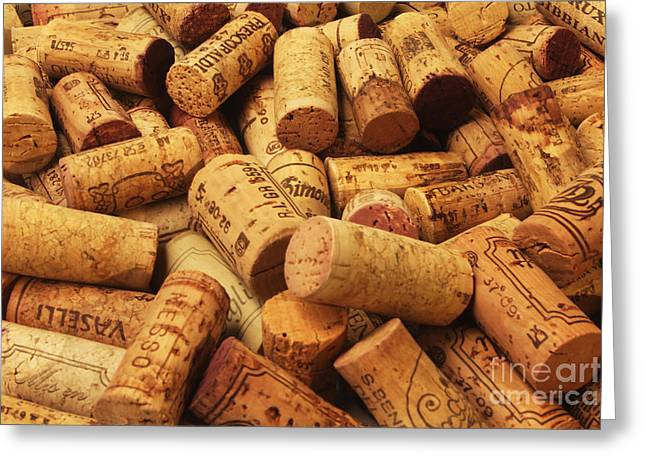 Cabernet Sauvignon Greeting Cards - Corks Greeting Card by Stefano Senise