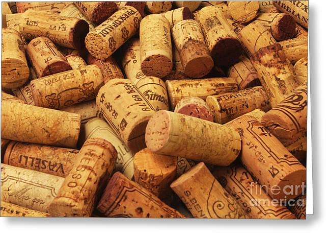 Winemaking Greeting Cards - Corks Greeting Card by Stefano Senise