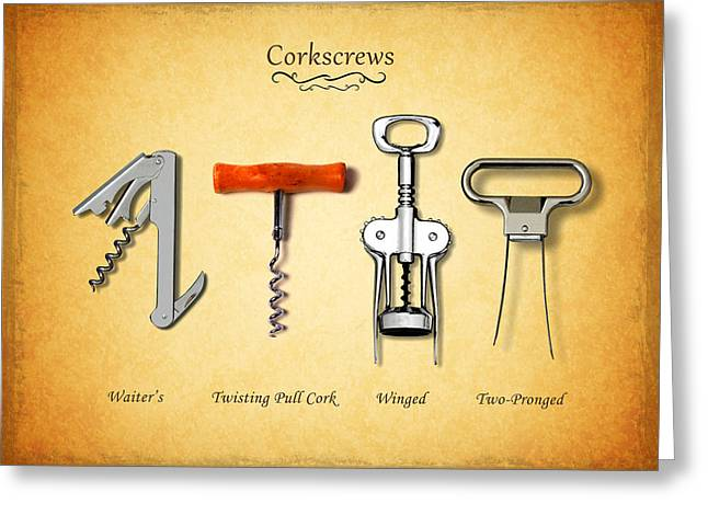 Corkscrew Greeting Cards - Corkscrews Greeting Card by Mark Rogan