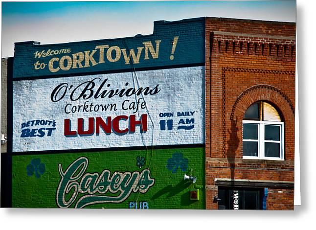 Corktown Greeting Cards - Corktown Greeting Card by Winston Likert