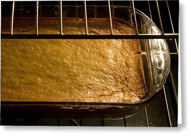Pan Cakes Greeting Cards - Corn cake in oven Greeting Card by Celso Diniz
