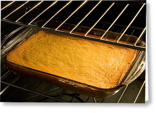 Pan Cakes Greeting Cards - Corn Cake or Bread in Oven Greeting Card by Celso Diniz