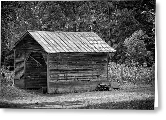 North Carolina Barn Greeting Cards - Corn Crib Greeting Card by Patrick M Lynch