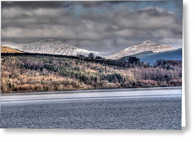 Waterscapes Of Wales Greeting Cards - Corn Ddu Pen Y Fan and Cribyn Greeting Card by Steve Purnell