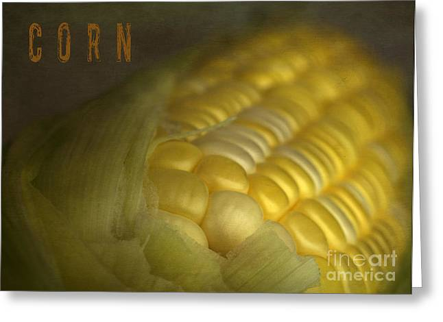 American Food Greeting Cards - Corn Greeting Card by Elena Nosyreva