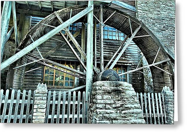 Grist Mill Greeting Cards - Corn Grinder Greeting Card by Adam Jewell