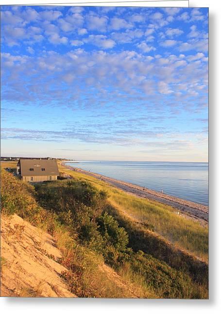 Cape Cod Tourism. Greeting Cards - Corn Hill Beach Cape Cod Bay Truro Greeting Card by John Burk