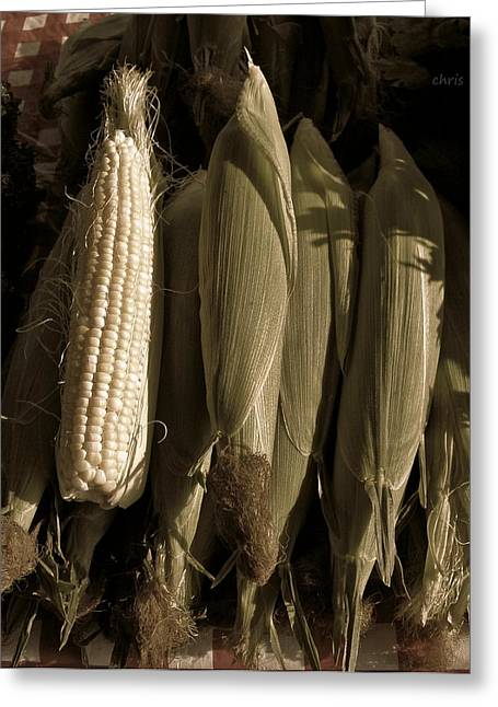 Black Berries Greeting Cards - Corn on the Cob  Greeting Card by Chris Berry