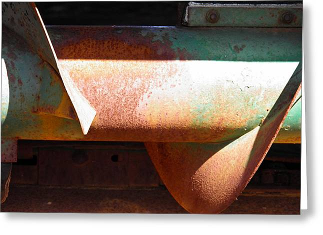 Corn Picker Greeting Cards - Corn Picker Auger Greeting Card by Nick Kirby