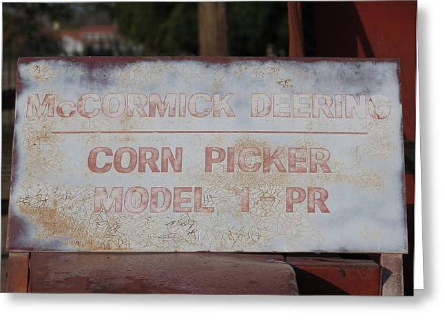 Mechanization Greeting Cards - Corn Picker Greeting Card by Laurel Powell