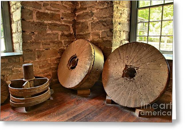 Grist Wheel Greeting Cards - Corn Wheels Greeting Card by Adam Jewell