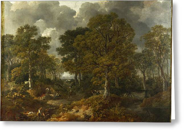 Sudbury Greeting Cards - Cornard Wood near Sudbury Suffolk Greeting Card by Thomas Gainsborough