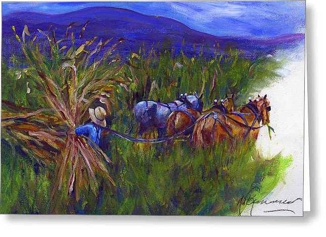 At Work Greeting Cards - Corncopia Greeting Card by Maggie Kemmerer