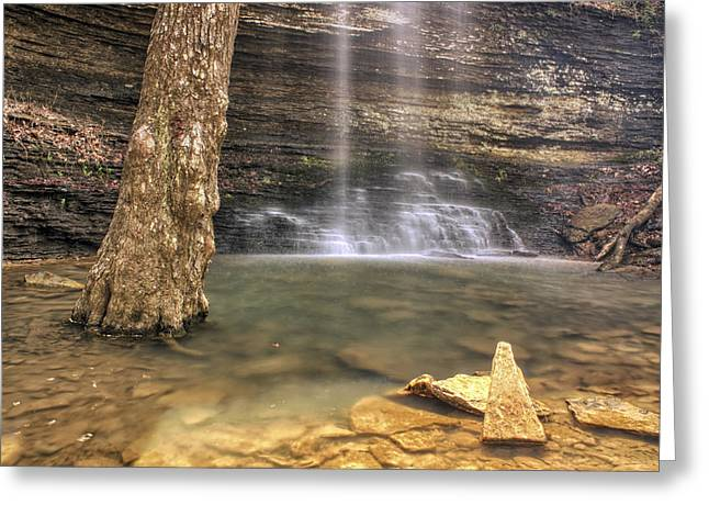 Heber Springs Greeting Cards - Cornelius Falls Basin - Heber Springs Arkansas Greeting Card by Jason Politte