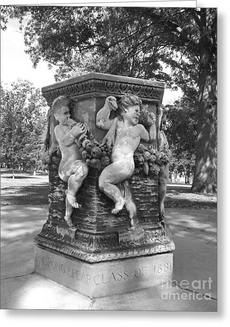 Staff Office Greeting Cards - Cornell College The Old Fountain Greeting Card by University Icons