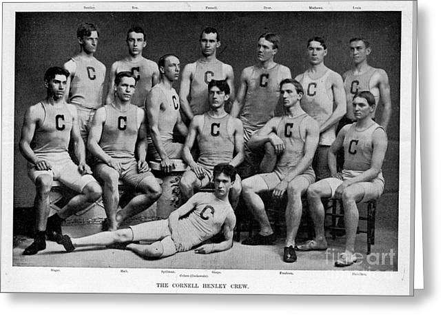 Universities Drawings Greeting Cards - Cornell Henley Crew 1895 Greeting Card by Celestial Images