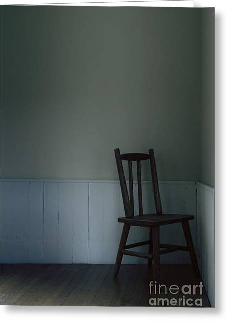 Empty Chairs Greeting Cards - Corner Chair Greeting Card by Margie Hurwich