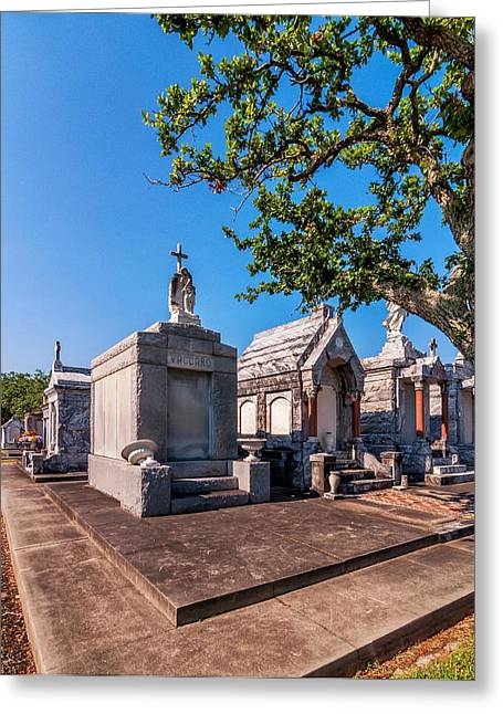 Metairie Cemetery Greeting Cards - Corner Lot Greeting Card by Steve Harrington
