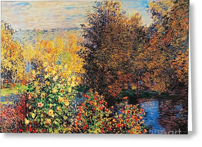 Corner of garden in Montgeron Greeting Card by Claude Monet