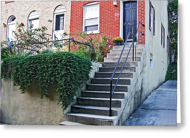Ivy Corners Greeting Cards - Corner Row Home Greeting Card by Brian Wallace