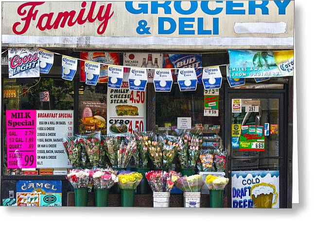 Corner Shop Greeting Card by Mitch Cat