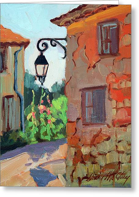 Corner Greeting Cards - Street Corner in St. Colombe Greeting Card by Diane McClary