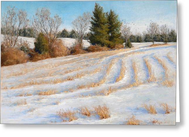 Cornfield Pastels Greeting Cards - Cornfield Curves Greeting Card by Gary Huber