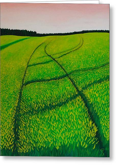 Fruehling Greeting Cards - Cornfield Greeting Card by Sven Fischer