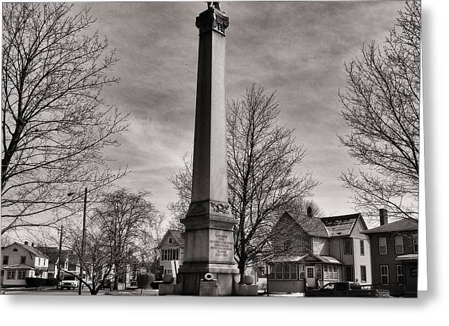 Yanks Greeting Cards - Corning Civil War Monument Greeting Card by Joshua House