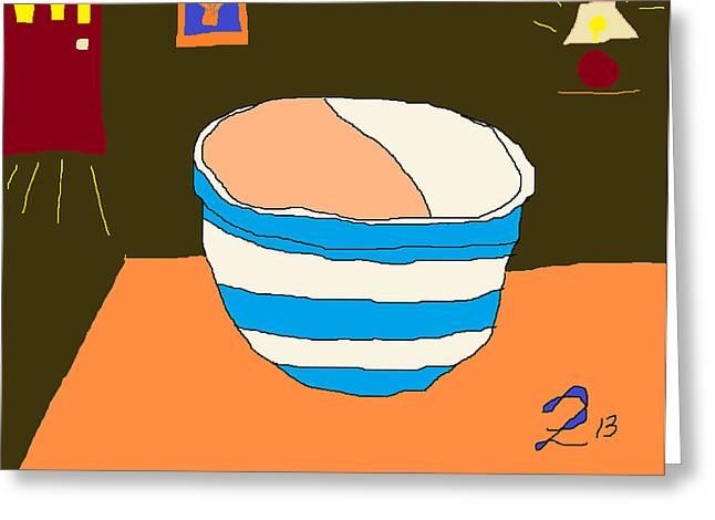 Cornish Bowl Kitchen Interior Greeting Card by Anita Dale Livaditis