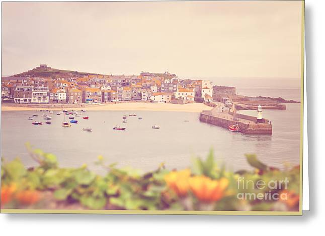 Cornish Harbour Greeting Card by Lyn Randle