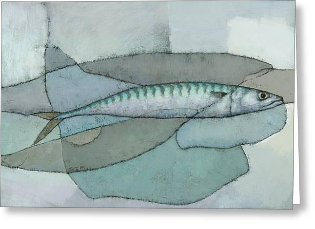 Mackerel Greeting Cards - Cornish Mackerel Greeting Card by Steve Mitchell