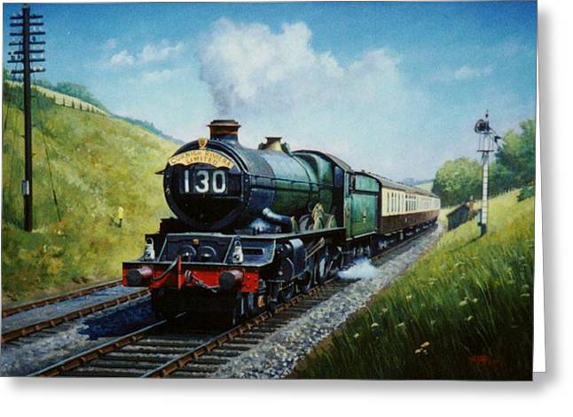 A Hot Summer Day Greeting Cards - Cornish Riviera to Paddington. Greeting Card by Mike  Jeffries