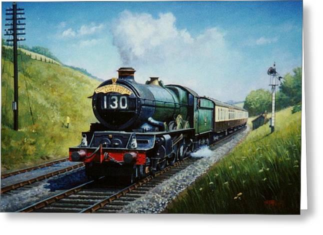 Steam Train Greeting Cards - Cornish Riviera to Paddington. Greeting Card by Mike  Jeffries