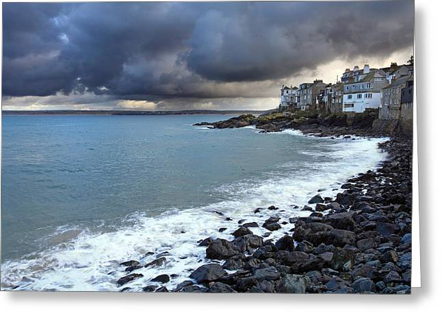 Atlantic Beaches Greeting Cards - Cornish Skies Greeting Card by Ollie Taylor
