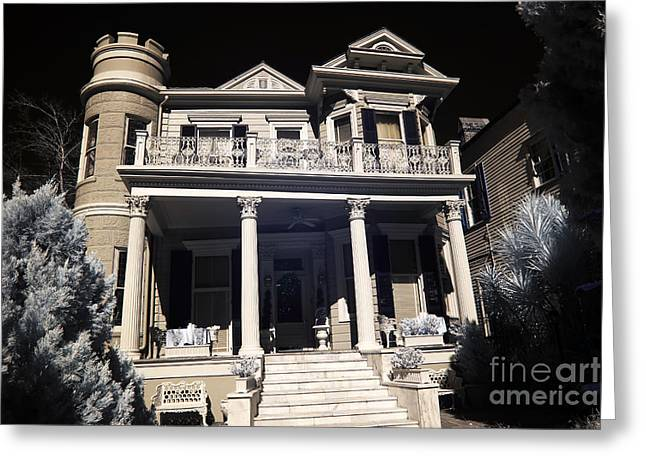 Cornstalks Greeting Cards - Cornstalk Hotel infrared Greeting Card by John Rizzuto