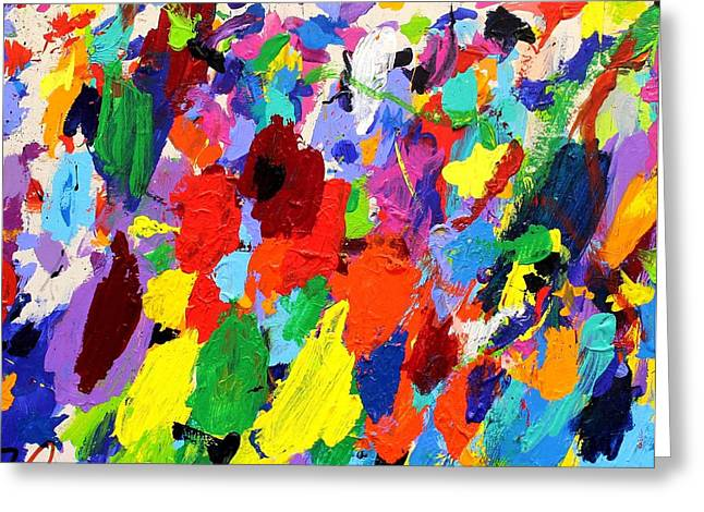 Abstract Movement Greeting Cards - Cornucopia Of Colour I Greeting Card by John  Nolan