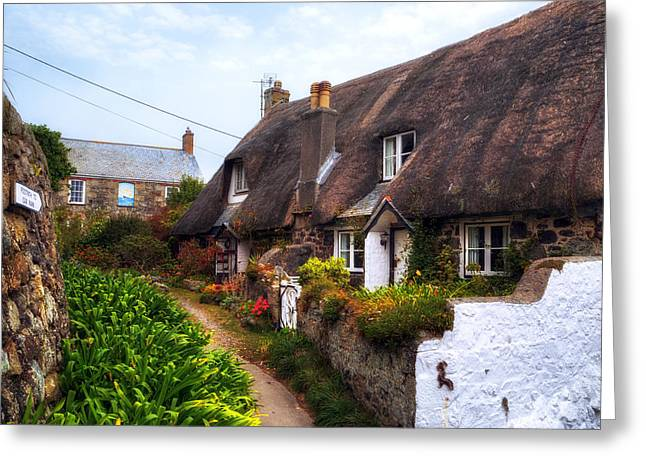 Thatch Photographs Greeting Cards - Cornwall - Cadgwith Greeting Card by Joana Kruse
