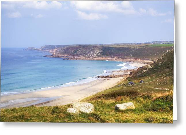 Sennen Cove Greeting Cards - Cornwall - Sennen Cove Greeting Card by Joana Kruse