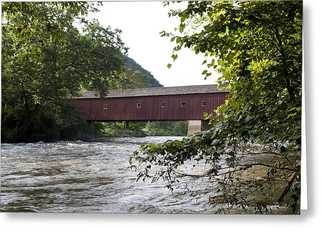 Connecticut Covered Bridge Greeting Cards - Cornwall bridge in Cornwall Connecticut Greeting Card by Carol M Highsmith
