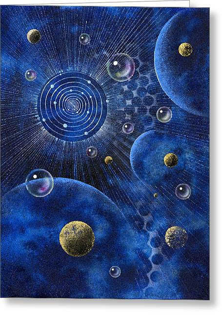 Solar Eclipse Paintings Greeting Cards - Corona Greeting Card by Achim Prill