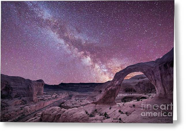 Ver Sprill Photographs Greeting Cards - Corona Arch Milky Way Greeting Card by Michael Ver Sprill