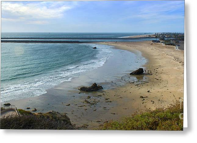 Gregory Dyer Greeting Cards - Corona del Mar Beach View - 02 Greeting Card by Gregory Dyer