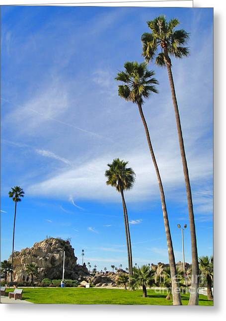 Corona Del Mar State Beach - 01 Greeting Card by Gregory Dyer