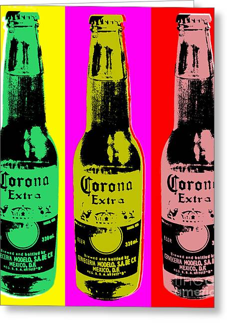 Corona Beer Greeting Card by Jean luc Comperat