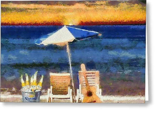 Corona Greeting Cards - Corona Sunset Greeting Card by Dan Sproul