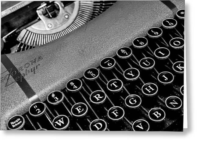Corona Zephyr Typewriter Greeting Card by Jon Woodhams