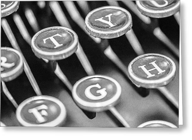 Typewriter Greeting Cards - Corona Zephyr Typewriter Keys Greeting Card by Jon Woodhams