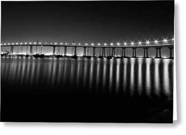 Coronado Bay Bridge Greeting Card by Ryan Weddle