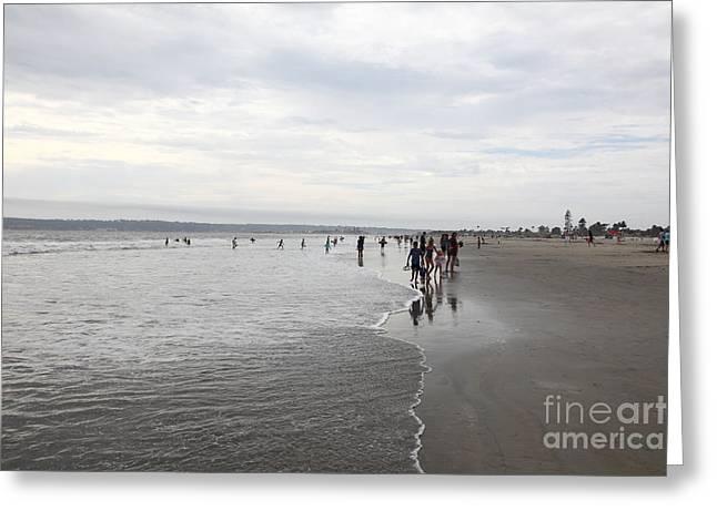 Coronado Island Greeting Cards - Coronado Beach In Coronado California 5D24297 Greeting Card by Wingsdomain Art and Photography